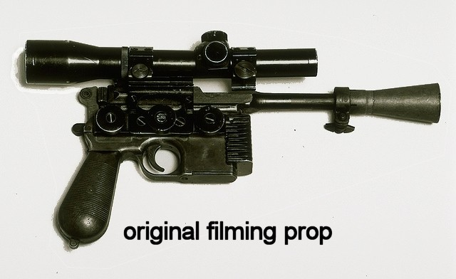 A NEW HOPE HAN SOLO BLASTER DL44 GREEDO KILLER REPLICA COMPACT SCOPE KIT WITH MOUNT